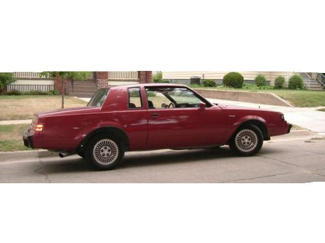 dark red 1984 buick t-type