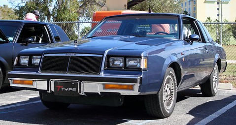 1985 buick t-type dark blue