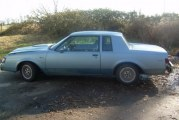 1985 Buick Regal T Type Light Blue Metallic
