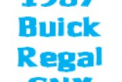 Whats new for 1987 Buick Regal Grand National GNX