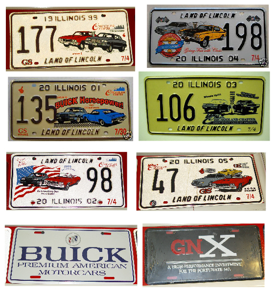 buick turbo regal license plates