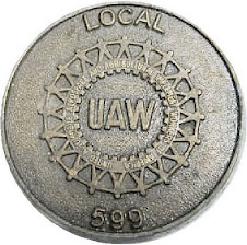 uaw local 599 badge