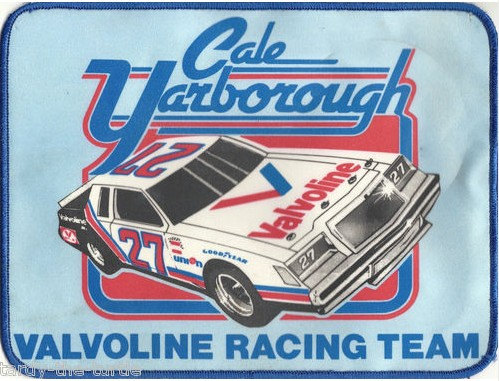 Cale Yarborough Valvoline Racing Team Patch