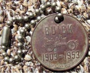 Buick 50th anniversary advertising keychain