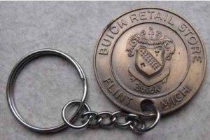 early Buick advertising keychain