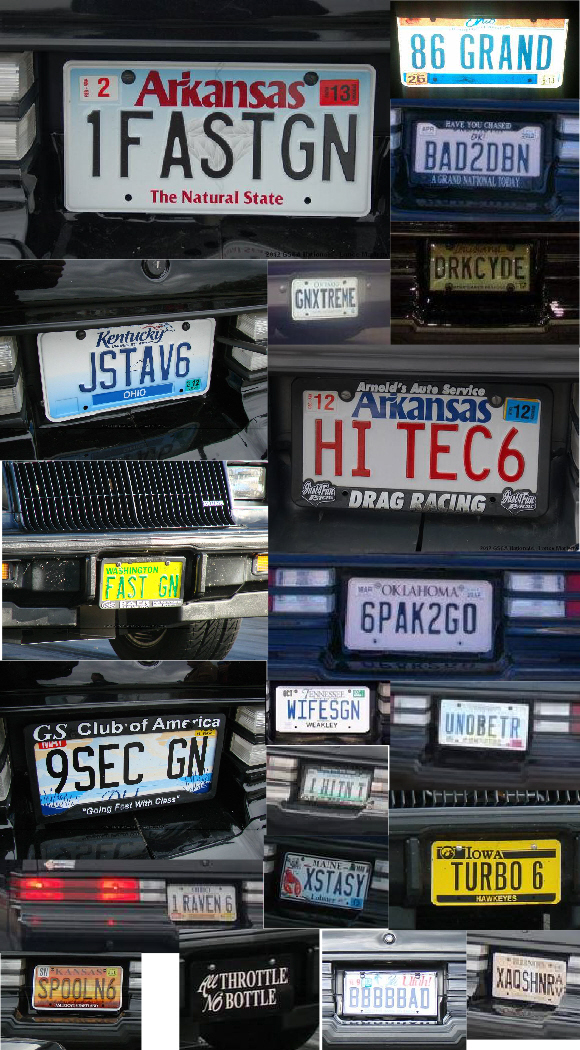 Turbo Buick Vanity License Plates