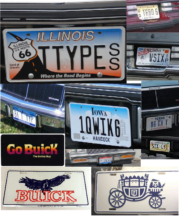 buick regal t-type license plates