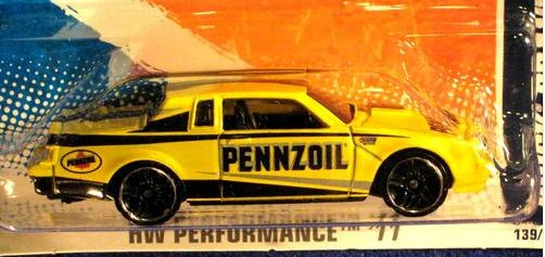 hot wheels yellow pennzoil 2011
