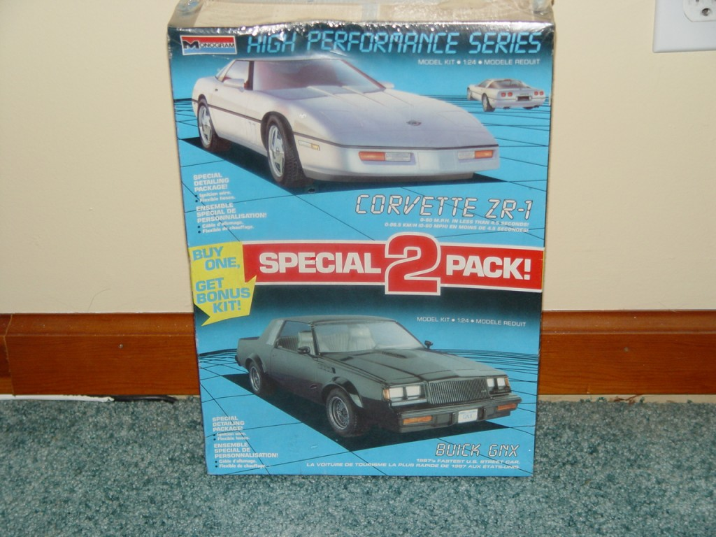 monogram 2 pack buick gnx corvette