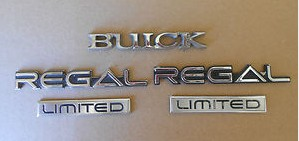 Buick Regal Limited Emblems