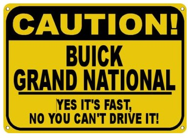 fast buick sign
