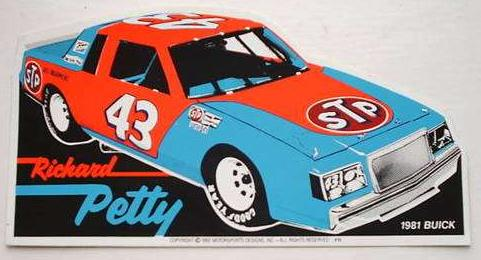 richard petty buick regal sticker