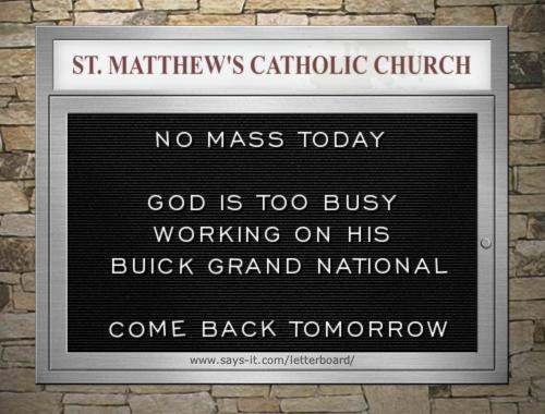 Buick church board
