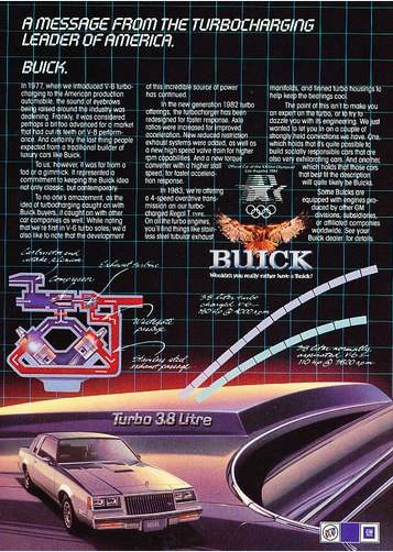 1983 Buick Regal Turbo 3.8 Litre ad