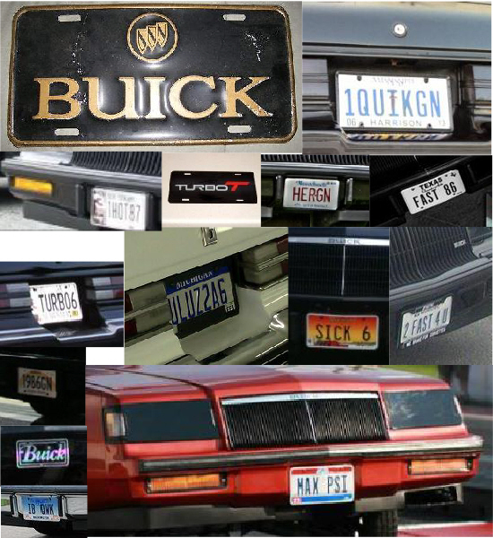 buick license tags