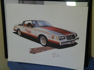 1981 buick pace car print