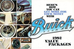 1982 Buick Value Package Cars Original Sales Brochure