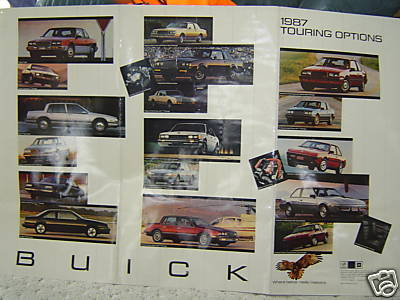 1987 Buick Touring Options poster