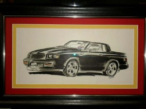 1987 buick grand national drawing