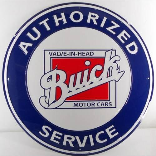Buick Valve in Head Garage Sign