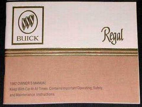 1982 buick regal owners manual