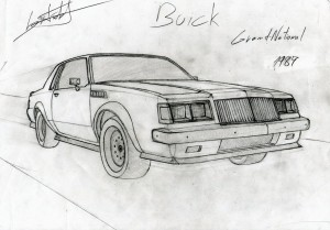 Buick Grand National 1987 drawing