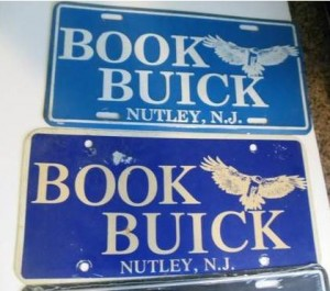 book buick dealership license plate