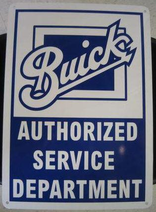 buick authorized service dept sign