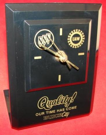 buick city desk clock