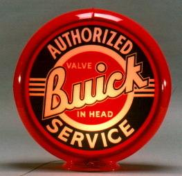 buick gas pump globe sign