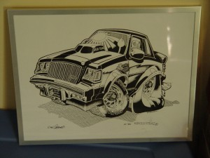 buick grand national characature print