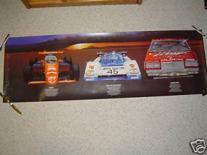 buick indy road race nascar poster
