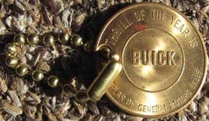 1950s buick advertising keychain