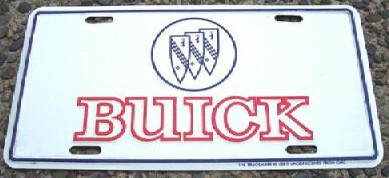 buick crest plate