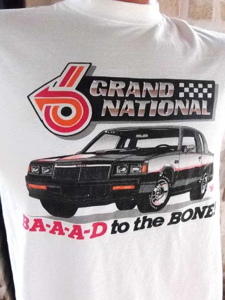 Buick Grand National We Brake for Corvettes 2 sided T-Shirt front