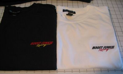 boost junkie racing shirt