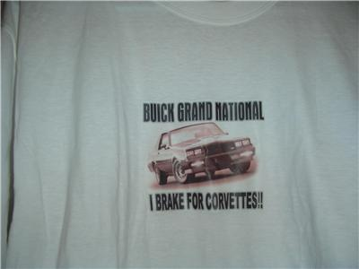 buick brake for corvettes shirt