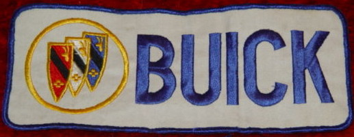 buick lettering tri shield logo patch