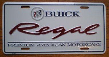 buick regal PAM plate