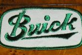 Old Buick Script Letter Logo Patches