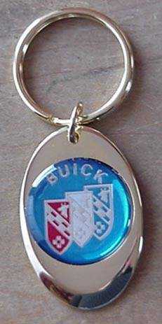 buick solid brass keychain