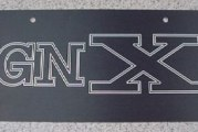 Buick GNX License Plates