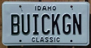classic buick gn plate