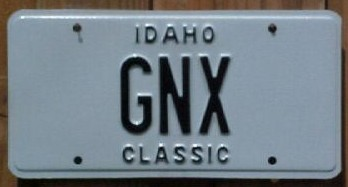 classic buick gnx plate