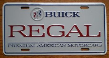 buick regal plate