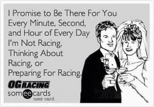 thinking about racing