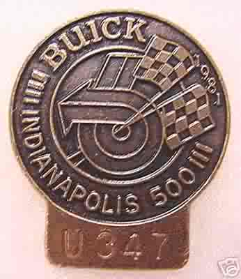 1981 BRONZE INDY 500 PIT BADGE