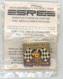 1983 indy buick pace car pin
