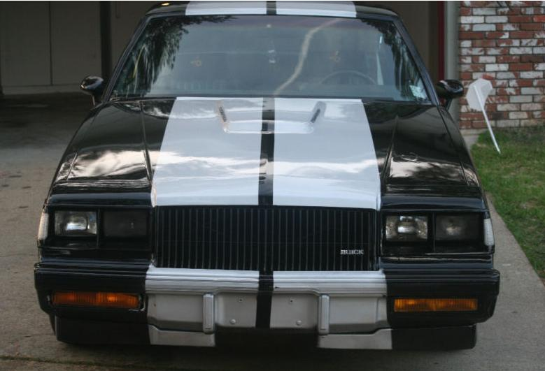 Buick Grand National with racing stripes
