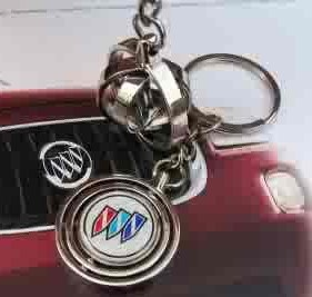 3 rings wind spinner buick keychain